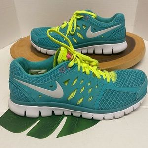 Nike Flex Run Neon Sneakers EUC